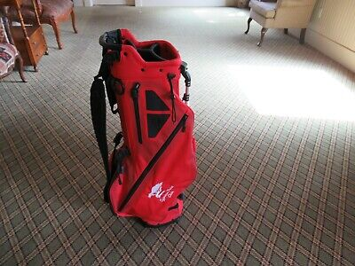 WOW!!! NEW TITLEIST PLAYERS 4 CYRPESS POINT LOGO STAND BAG RED FREE SHIPPING