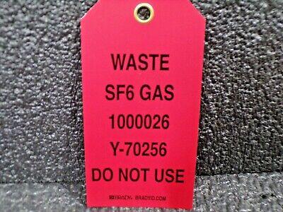 Brady Id Sf6 Gas 1000026 Y-70256 Do Not Use Safety Tag 25pk K