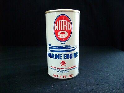 NITRO- 9- FOR MARINE ENGINE FUEL ADDITIVE 4 OZ. MOTOR OIL CAN FULL GREAT CON.