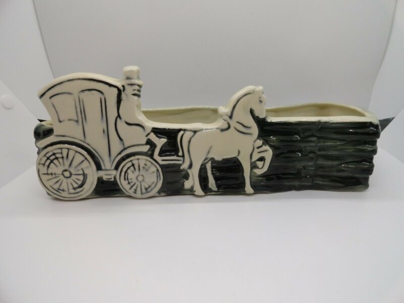 Brush McCoy Pottery - garden dish - Stage Coach