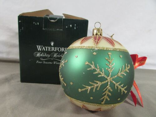 Waterford Holiday Heirlooms Four Seasons Winter Ball Ornament