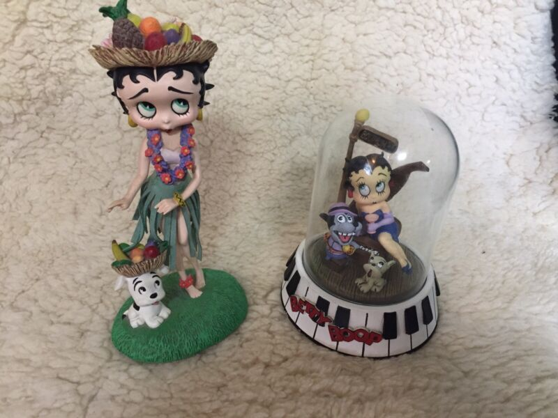 Betty Boop Figurine Lot. King Features Collectibles.