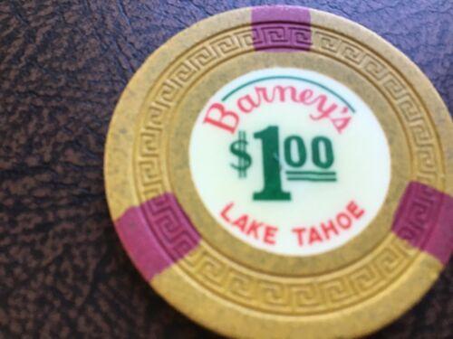 Barney's Lake Tahoe NV $1 casino chip