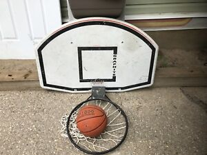 Basketball Net, board and Ball.
