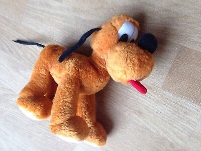 Disney Pluto Soft Toy Mickey Mouse Dog Approximately 8 Inches Long