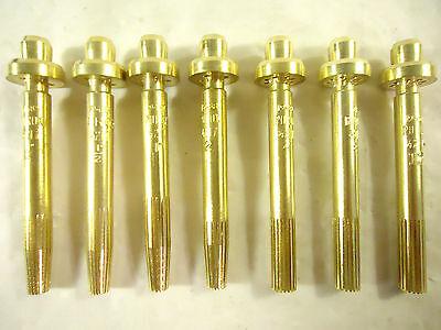 Purox Series 4217 Propane Cut Tip Nozzles 7 Pcs 14 12 1 2 4 8 12