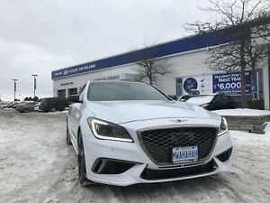 2018 Genesis G80 3.3T AWD SPORT, Navi, Leather, Pano Sunroof, 36