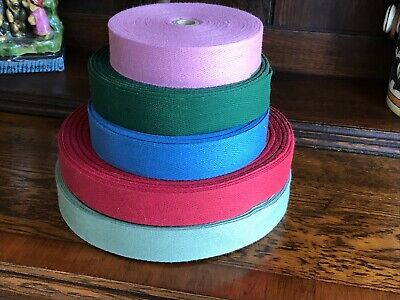 1 1/4 Inch Cotton Rug Binding Tape / Rug Hooking /10 YARDS / Pick your Color
