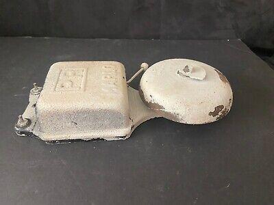 Vintage Rare Marlo Iron Wall School Fire Alarm Bell