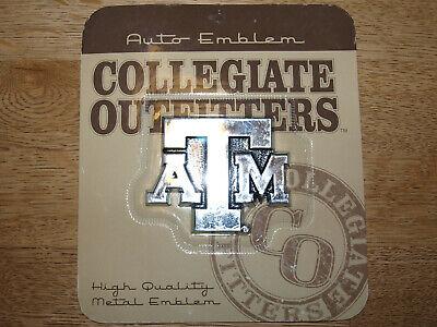 Texas A&m Aggies Metal (Texas A&M Aggies - Chrome Finished - Self Adhesive Metal Auto Emblem -)