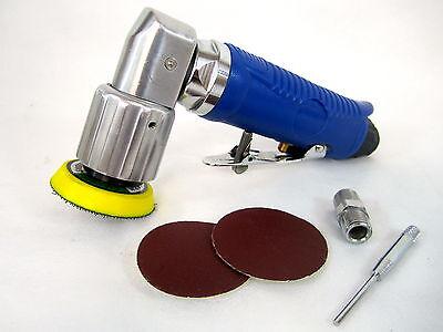 "2"" Mini Orbital Air Sander with 40 piece Sanding Disc Assortment"