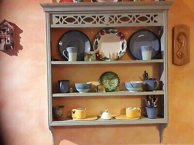 Antique pine plate rack - excellent condition.