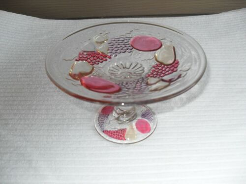 1928-1940 Westmoreland Della Robbia Flashed Mint Compote #2