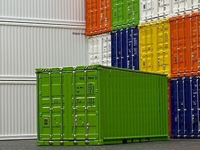 1/64 DCP LIME GREEN 20' SHIPPING CONTAINER UNIT