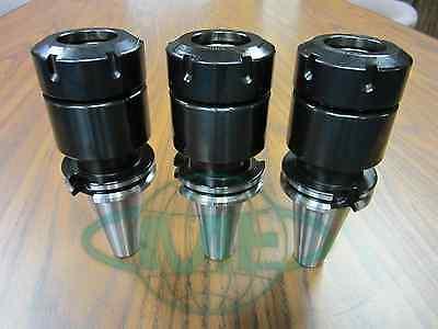 3 Cat40-er40 Collet Chucks 4 Gage Length 0.0001 Coolant Thru-tool Holder