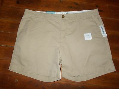 "Old Navy Beige Khaki Shorts Women's Size 8 NEW NWT 5"""