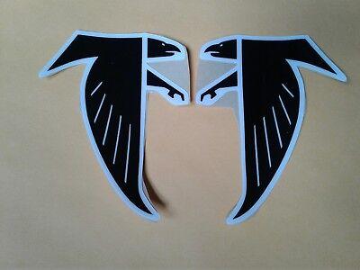 Atlanta Falcons throwback football helmet decals set