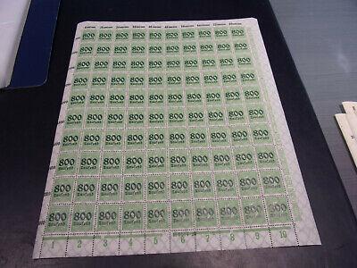 INFLA 301 A BOGEN 800 TAUSEND AUF 5 PFENNIG B11078