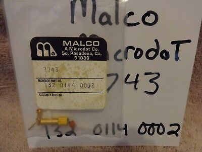 MALCO MICRODOT CONNECTOR  # 7743 , NSN: 132 0114 0002 GOLD PLATED  NEW