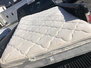 Double Mattress - $100 bucks - Pillow tip bed