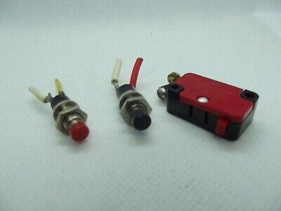 3 Micro Switch 2 Red And One Black Push Button On Off Emergency Stop