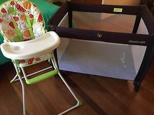 Steelcraft portacot and a highchair Aspley Brisbane North East Preview