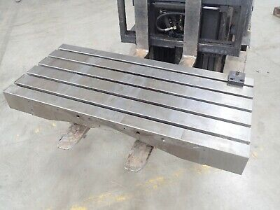 47.25 X 21.75 X 7 Steel Weld T-slotted Table Cast Iron Layout Plate 5 Slot