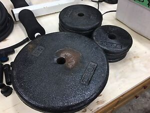 Weight plates and bar