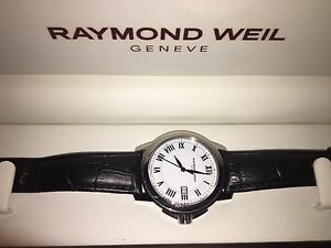 MENS RAYMOND WEIL ALLIGATOR WATCH