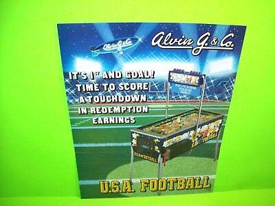 Alvin G. & Co. USA FOOTBALL 1992 Original Face To Face Pinball Machine Flyer