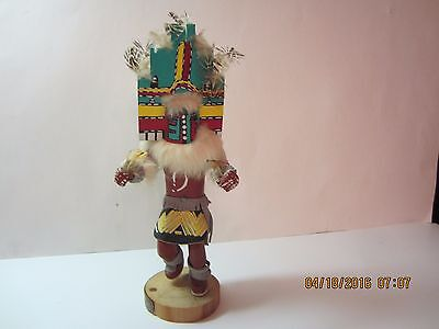"Vintage Native American Carved Kachina Doll-""Hemis"" Signed-1960's Thru 1980's for sale  Rockford"