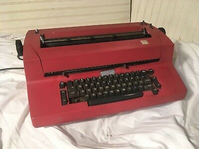 Vintage Ibm Correcting Selectric Ii Electric Business Typewriter - Red - As Is