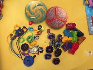BEYBLADE LOT !!! Beyblades, Launchers, Ripcords, battle!