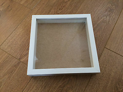 square shadow deep box wooden picture photo frame new 9x9 inch white