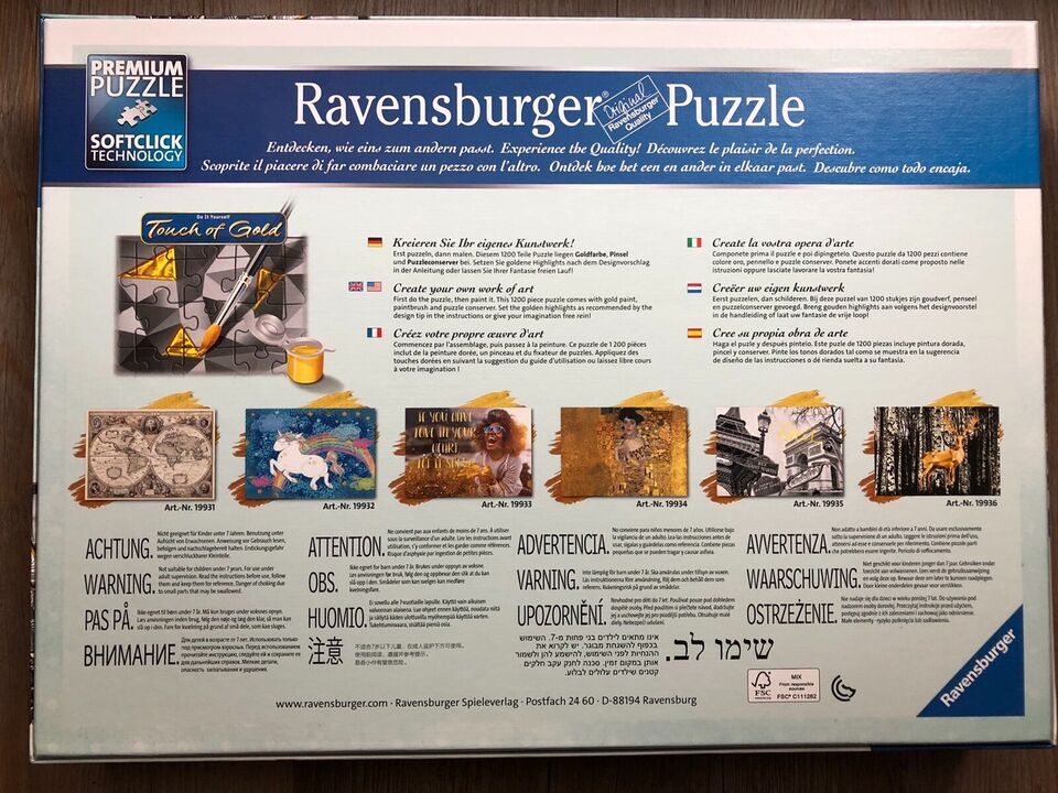 Ravensburger Puzzle 1200 Teile, Touch of Gold in Geiselberg