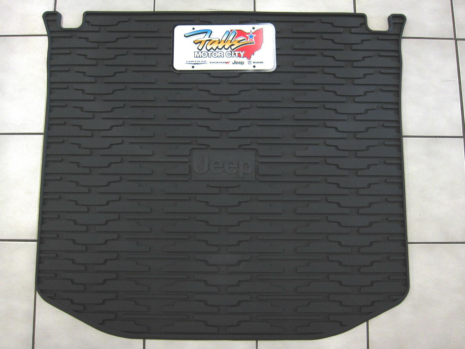 Compatible for 2011-2019 Jeep Grand Cherokee OEM Rubber Rear Cargo Mat 82212085 Mopar