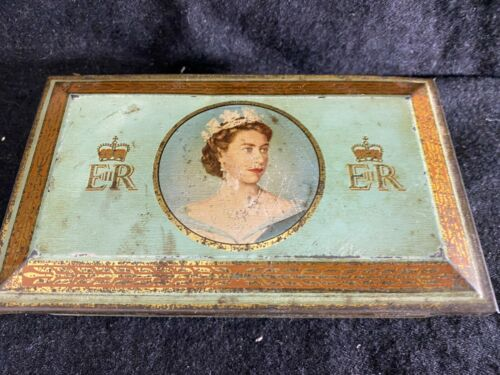 1953 Queen Elizabeth Coronation Tin- Wild Woodbine Cigarettes-  ROYALTY - SALE