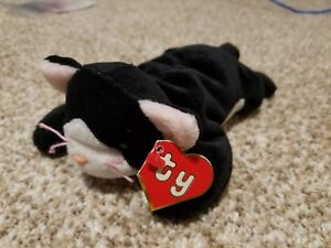 65540cf4c43 Authentic Ty Beanie Baby Rare 2nd 1st Gen Tag Zip Old Face Cat MWNMT!