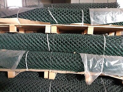 6 Rolls x Tennis Court Chain Link Fencing Green c/w Line Wires 10ft-3050x12.5mtr