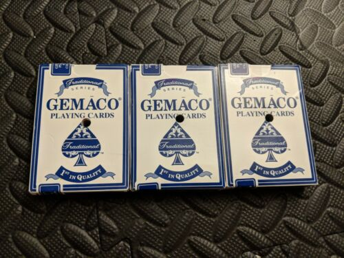 Vintage Gemaco Trump Plaza Traditional USA Playing Cards 3 Decks