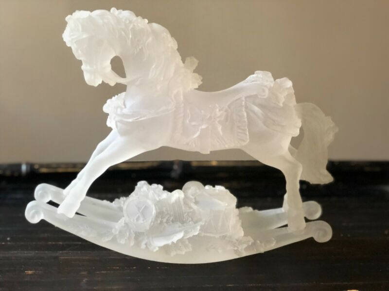 Frosted Glass Christmas Rocking Horse