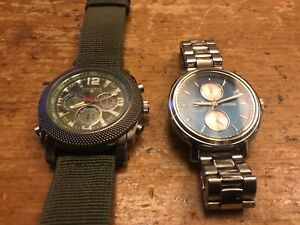 Lot of two quartz chrono watches - fossil - Coleman