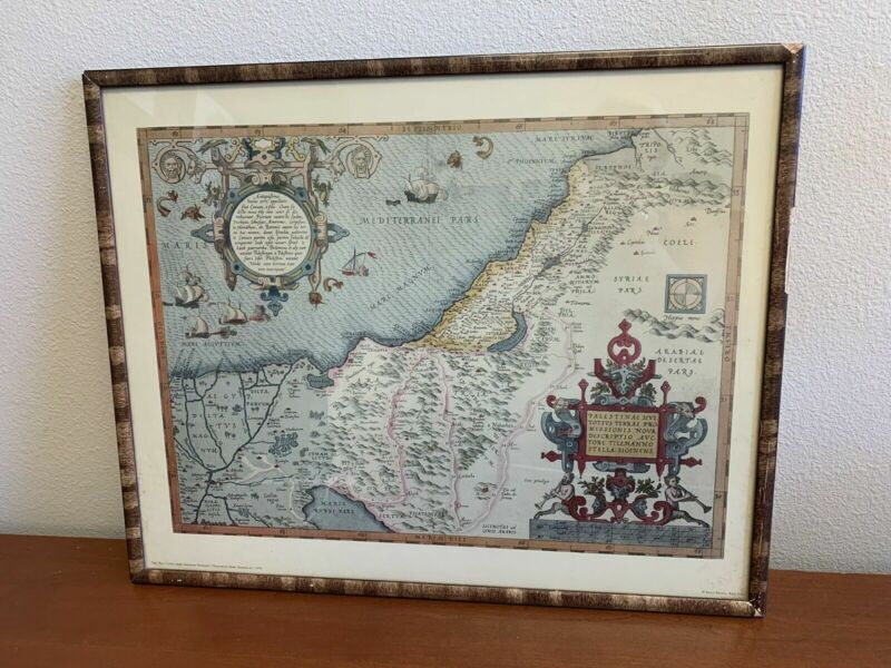 Penn Prints New York THE HOLY LAND Map from Abraham Ortelius 1570 Israel