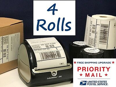 "DYMO 4XL Thermal Shipping Labels 4 Rolls 1744907 Compatible 4""x6"" - 220/Roll NEW"