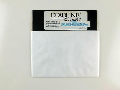 Atari 400 / 800 Computer DEADLINE Disk by Infocom