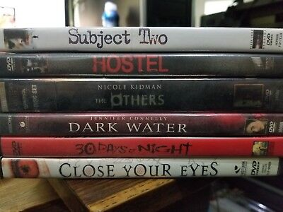 HORROR LOT #2 - 6 DVD'S - SUBJECT TWO HOSTEL OTHERS DARK WATER CLOSE YOUR EYES - Hostel Horror