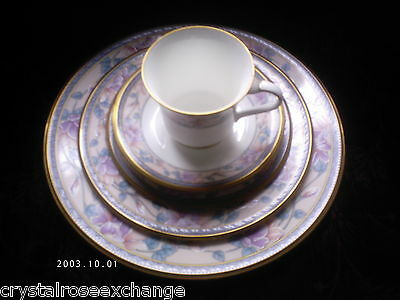 3 Noritake Embassy Suite Place Settings  Plates  Cup  Excellent  Free Shipping