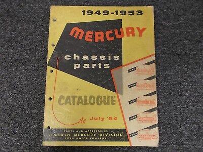 1949-1953 Mercury Customline Monterey Parts Catalog Manual Book 1950 1951 1952