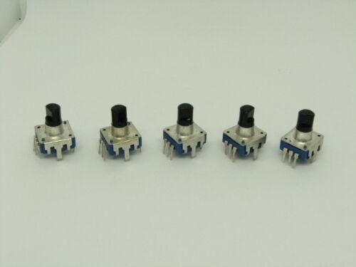 5x Pack Rotary Encoder 360 Degree EC12 RE12 Audio Coding 5 Pins 24 Position Push
