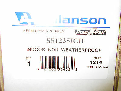 Allanson Electric Sign Repair Parts 1235ich Neon Transformer Nib Indoor Type